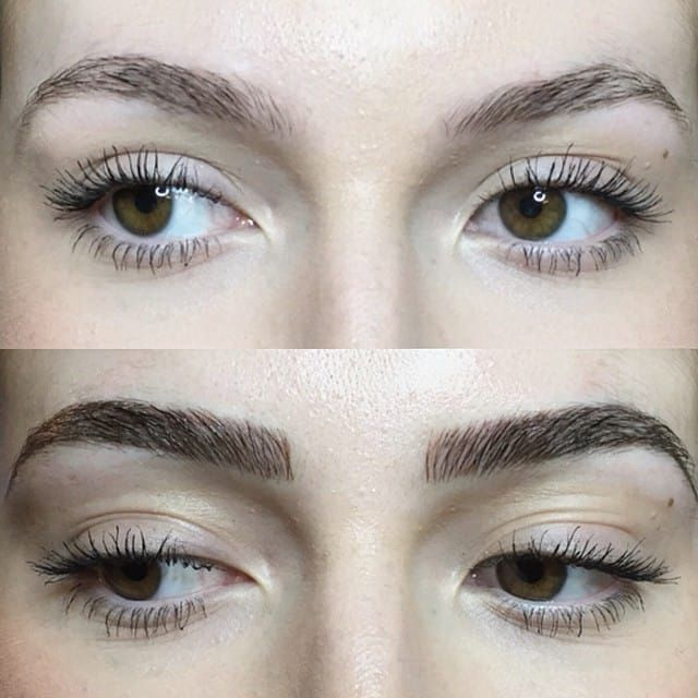 Before and after, Image Source: Shaughnessy Keely #cosmetics #eyebrows #Microblading #consmetictattooing