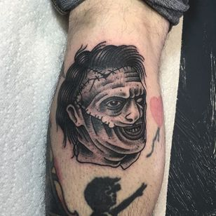 Leatherface by Angelo Parente. #blackandgrey #traditional #Leatherface #horror #AngeloParente
