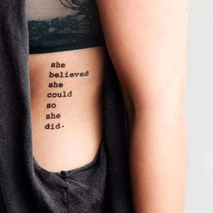 Quote tattoo. Artist unknown. #quote #inspirational #inspirationalquote #motivation #meaning #meaningful #script #sayings