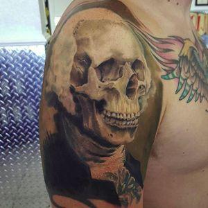 Washington skull by Ian Miller (via IG -- ianmillerart) #ianmiller #skull #georgewashington