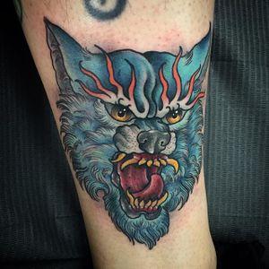 Beast Tattoo by Scott Garitson #neotraditional #neotraditionaltattoo #traditionaltattoo #traditional #boldtattoos #ScottGaritson