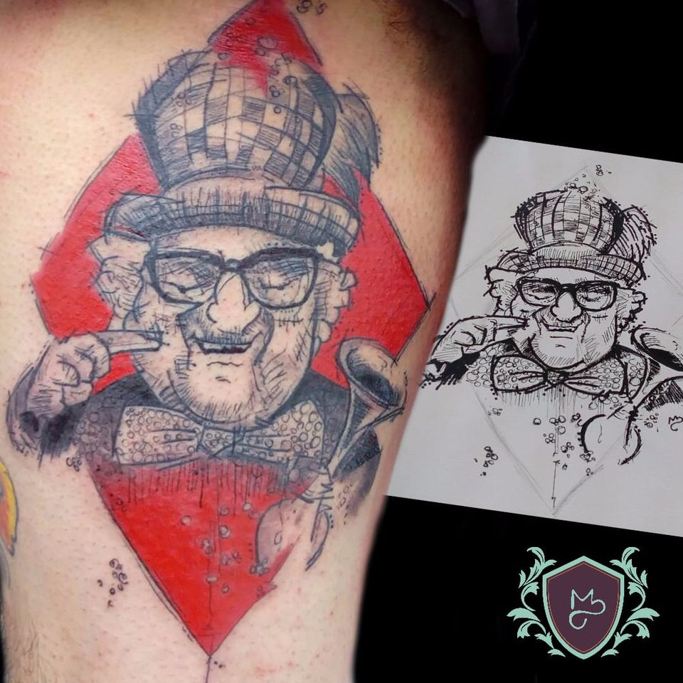 Chacrinha. #AndreMelo #tatuadoresdobrasil #sketch #chacrinha #culturabrasileira #personalidade