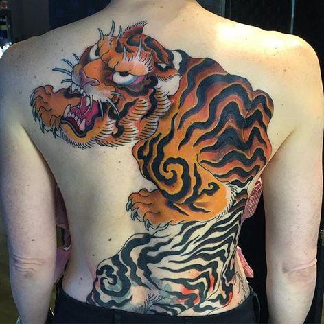 Tiger (In Progress) Tattoo by Lango Oliveira #tiger #japanesetiger #japanese #japaneseart #irezumi #LangoOliveira