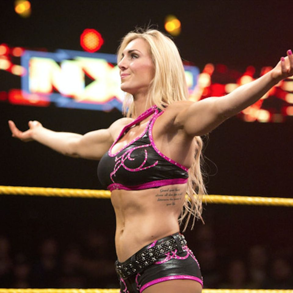Charlotte has a Bible quote on her side. #Charlotte #WWE #WWESuperstar #Bible #BibleTattoo
