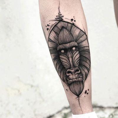 #JCTavares #brasil #brazil #brazilianartist #tatuadoresdobrasil #blackwork #pontilhismo #dotwork #sketch #macaco #monkey