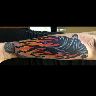Dementor Tattoo by Alexis Colombo #Dementor #DementorTattoo #HarryPotterTattoos #HaryPotterTattoo #HarryPotterInk #AlexisColombo