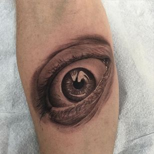 Detailed eye tattoo by Jamie Mahood. #blackandgrey #realism #JamieMahood #eye #eyeball #realistic
