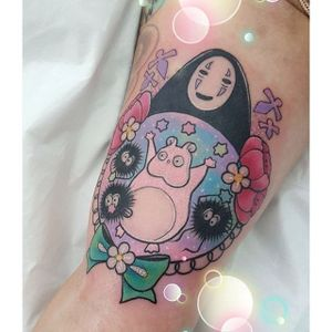 Spirited Away tattoo by Shannon Meow. #ShannonMeow #girly #cute #kawaii #pastel #spiritedaway #anime #studioghibli #ghibli