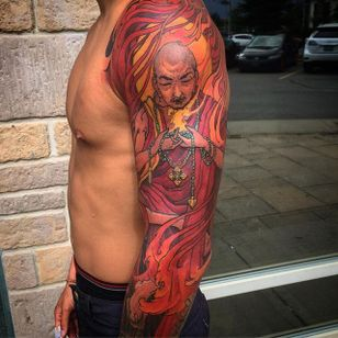 Monk Tattoo by Tristen Zhang #monk #japanese #neotraditional #neotraditionaljapanese #japaneseart #TristenZhang