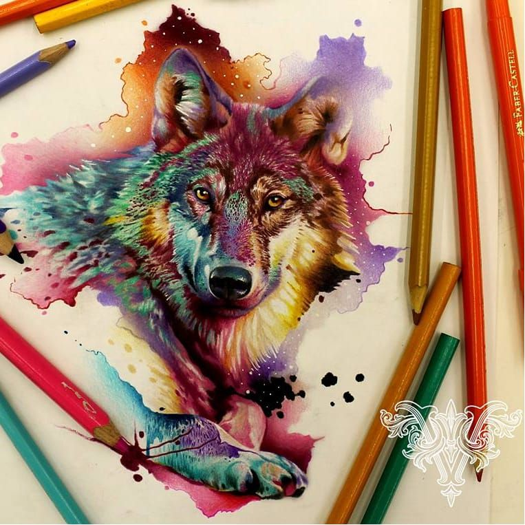 #wolf #lobo #aquarela #watercolor #vareta #ilustradorvareta #coloridos #brasil #brazil #portugues #portuguese #desenhos #drawing