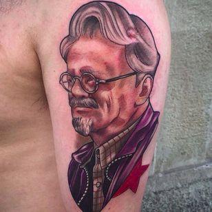 Trotsky by Oash Rodríguez (via IG -- oash_tattoo) #OashRodríguez #trotsky #communism
