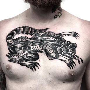 Chest Tattoo by Roblake #blackwork #blackworktattoo #blackworktattoos #blackworkartists #blackworkdesigns #ignorantblackwork #ignoranttattoo #ignorantstyletattoo #darktattoo #darktattoos #Roblake