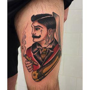 Gentleman Tattoo by Kathryn Ursula #Traditional #TraditionalTattoos #OldSchool #KathrynUrsula #gentleman