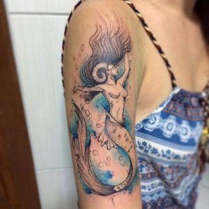 Sirena #LeoValquilha #tatuadoresdobrasil #tatuadoresbrasileiros #watercolor #aquarela #sereia #mermaid