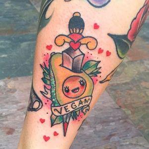 Vegan, by Mariexvx #Mariexvx #avocado #vegan #lettering #colorful