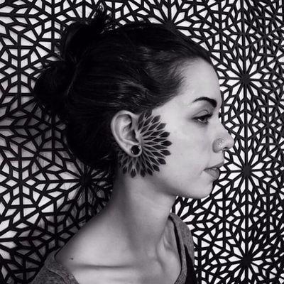 Elemental ornamental by Corey Divine #CoreyDivine #blackwork #geometric #mandala #ornamental #pattern #diamond #shapes #abstract #tattoooftheday