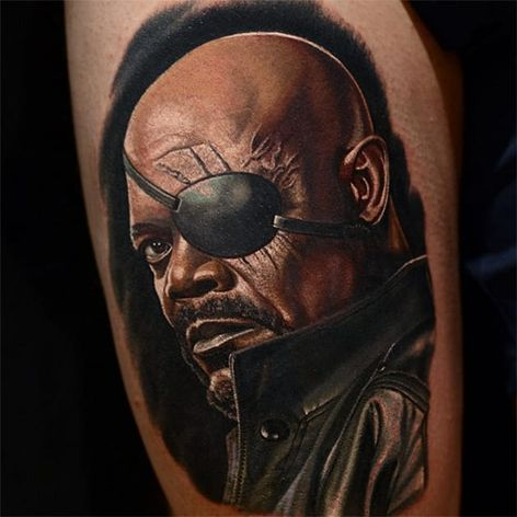 Nick Fury de Os Vingadores #NikkoHurtado #gringo #realismo #realism #realismocolorido #NickFury #SamuelLJackson #marvel #movie #filme #nerd #geek #portrait #retrato