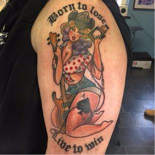 Pin-up by Hollie West #HollieWest #motörhead #motorhead #pinup #aceofspades #guitar #jackdaniels #borntoloselivetowin