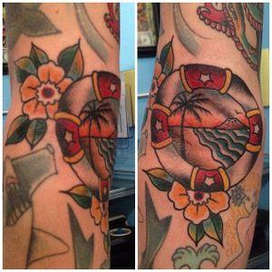 Lifebuoy Tattoo by Tattoo Paulski #lifebuoy #nautical #maritime #traditional #TattooPaulski