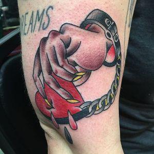 Prisoner Of Love Tattoo, Artist Unknown #prisoneroflove #prisoner #traditional