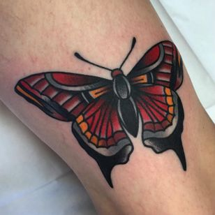 Moth tattoo by Dannii G #DanniiG #traditional #neotraditional #moth #oldschool (Photo: Instagram @dannii_ltp13)