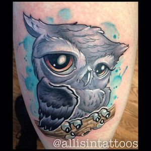 New school owl tattoo by Allisin. #newschool #bird #owl #Allisin