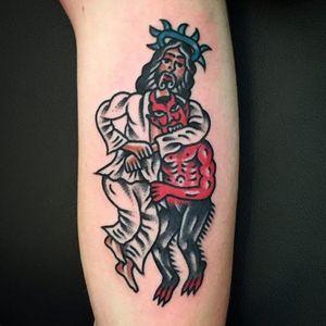 Wrestling Jesus and Devil #WanTattooer #wrestling #Devil #Jesus #funny