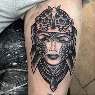 Cool tattoo by Annmarie Cahill #AnnmarieCahill #blackwork #dotwork #mandala #woman #portrait