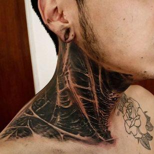 Rotten Neck Tattoo by Matias Felipe #rotten #darkart #darkink #darkartist #blackwork #blackandgrey #MatiasFelipe