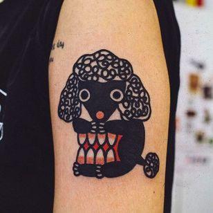Two in One Black Sheep Tattoo by Woo @Woo_Tattooer #WooTattooer #Seoul #Korea #TwoinOneTattoo #OpticalIllusion #OpticalIllusionTattoo #Black #Sheep
