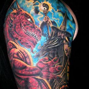 Wizard sleeve by Dave Martinez #DaveMartinez #wizard #sleeve #wizardsleeve #wizardsleevetattoo