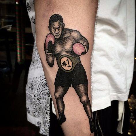 Mike Tyson Tattoo by Ans Pham #MikeTyson #MikeTysonTattoo #BoxingTattoo #SportTattoos #Portrait #anspham