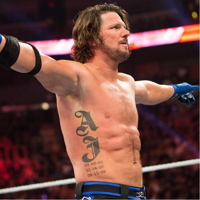 What do those dates on the side of AJ Styles mean? #WWE #WWESuperstars #Wrestling #AJStyles #Lettering