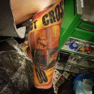 Do Not Cross. Tattoo by Kobay Kronik. #realism #colorrealism #painterly #KobayKronik