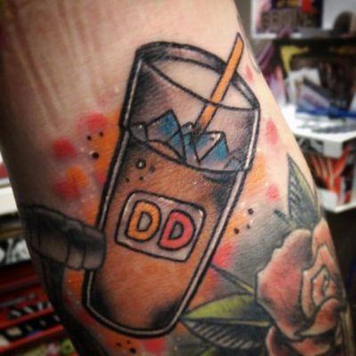 Give Us Iced Coffee or Give Us Death #Coffee #IcedCoffee #CoffeeTattoos