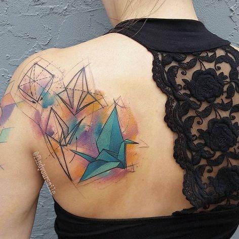 Tutorial origami #RussellVanSchaick #gringo #watercolor #aquarela #sketchstyle #origami #tsuru #paperbird #passarodepapel #oriental #crane #papercrane