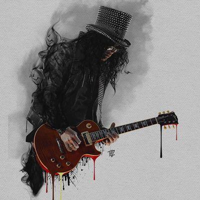Arte por Tezoouro! #Tezoouro #Artistasbrasileiros #digitalartist #graphicdesigner #artistadigital #designergrafico #ilustração #illustration #slash #music #rock #legendofrock #rocknroll