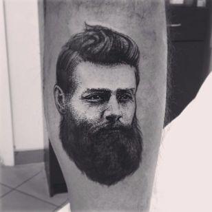 Ned Kelly Tattoo by Alex Tabuns #NedKelly #NedKellyTattoo #OutlawTattoo #FolkloreTattoos #AustralianTattoos #AlexTabuns