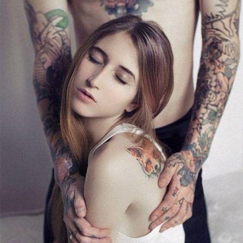 Beautiful portrait of Anastasia Slutskaya @nastyafox #portrait #fox #AnastasiaSlutskaya #tattooartist #russian