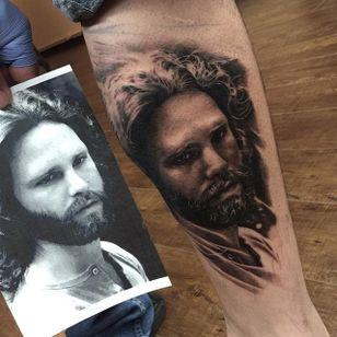 Jim Morrison portrait by Teneile Napoli. #blackandgrey #realism #blackandgreyrealism #TeneileNapoli #JimMorrison