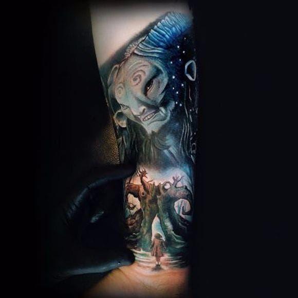 Lindo trabalho com o tema O Labirinto do Fauno por Sam Barber! #SamBarber #PansLabryrinth #OLabirintoDoFauno #guillermodeltoto #movie #geed #nerd #cult #horror #faun #fauno #sleeve
