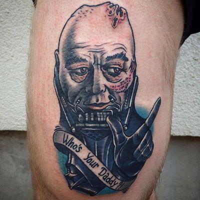 Tattoo por Borislav Dementiev! #BorislavDementiev #StarWars #Maytheforcebewithyou #maythe4thbewithyou #nerd #geek #AnakinSkywalker #DarthVader #Whosyourdaddy?