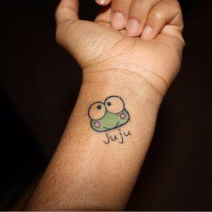 Sanrio tattoo from holybfpbatman's blog . #sanrio #adorable #kawaii #cute #keroppi #frog