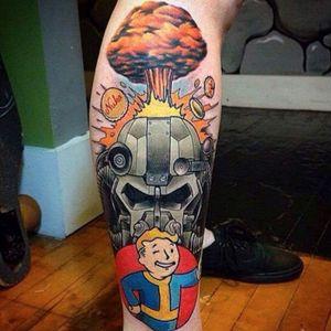 An incredible mashup of Fallout imagery. #Fallout #nukacola #PipBoy #powerarmor