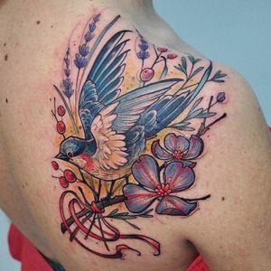 Bird tattoo. #KatiBerinkey #bird #sketch #sketchtattoo #sketchstyletattoo