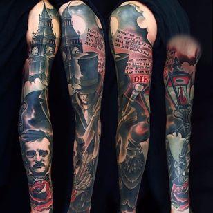 Jack the Ripper tattoo by fishero on Instagram. #JacktheRipper #serialkiller #history #england #london #killer #edgaralanpoe