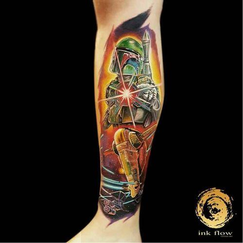 #starwars #nerd #KlebyzTattoo #KlebyzSoares #comics #comicsRealista #realismo #realismoColorido #colorido #colorful #ElectricInk #InkTeam #brasil #brazil #portugues #portuguese