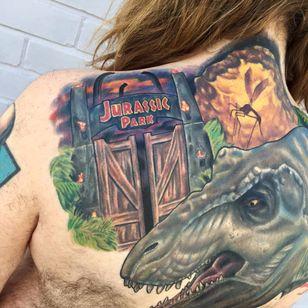 Os grandões jurássicos que você respeita #BenStubbs #nerd #geek #diadoorgulhonerd #diadatoalha #jurassicpark #parquedosdinossauros #tiranossaurorex #trex #movie #filme #dinossauro #dinosaur