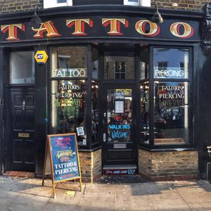 Love Hate Social Club in Notting Hill, London. #lovehatesocialclub #nottinghill #london #amijames #tattooshop