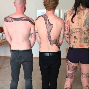 Joined tattoo by Chaim Machlev on Biffy Clyro #ChaimMachlev #DotsToLines #BiffyClyro